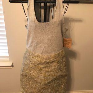 Rachel Roy Knit Tweed Twofer Dress XL